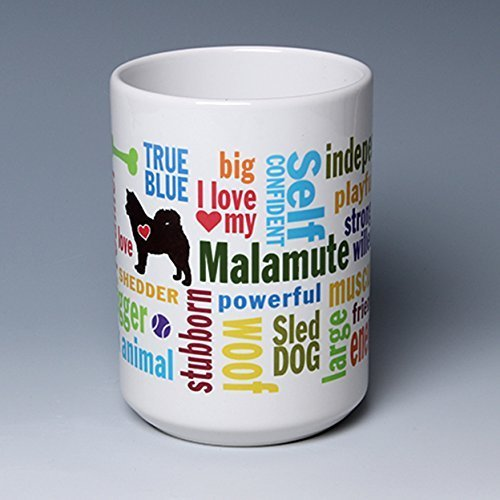 ✪ NEW BREED for 2016 ✪ 15 oz. Personalize this Ceramic Malamute Coffee/Tea Mug ~ perfect for a dog or pet lover ~ can be customized