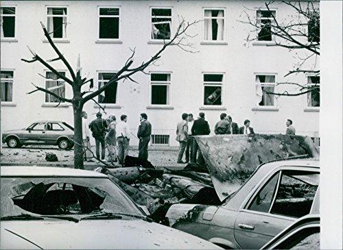 Vintage photo of Bombing at Frankfurt US airbus. ()
