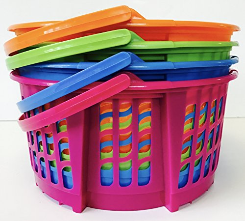 JMD StarPacks 4PC Large Round Classroom Storage Baskets for