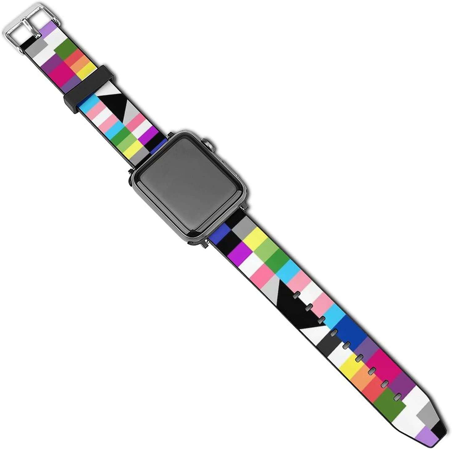 NiYoung Lesbian Gay LGBT Pride Flags Leather Band for Apple Watch Bands 38mm 40mm 42mm 44mm Watch Strap Replacement Wrist Band for iWatch Series 5 4 3 2 1