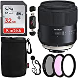 Tamron AFF013C-700 SP 45mm F/1.8 Di VC USD (Model F013) For Canon, Sandisk Ultra SDHC 32GB, XIT 67mm Filter Kit, Ritz Gear Lens Pouch and Accessory Bundle