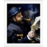 """Alonline Art - Claude Monet Reading Auguste Renoir 