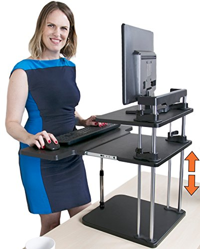 Uptrak Standing Desk by Stand Steady (Dual Level - Black) by Stand Steady