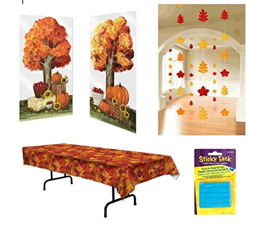 Fall Decorations Pumpkin Patch Scene Setter Hanging Leaf