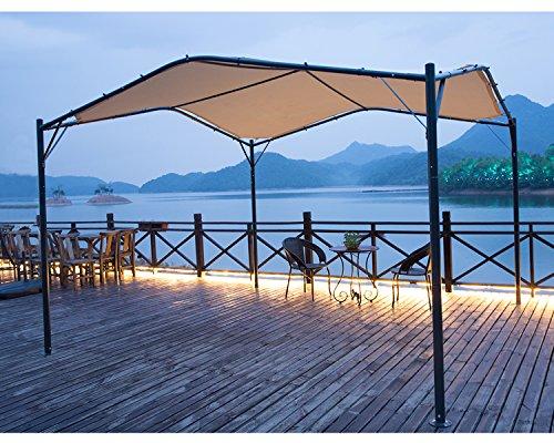 mefo garden 12 x 12 ft outdoor patio swan gazebo canopy for backyard iron 250gsm polyester. Black Bedroom Furniture Sets. Home Design Ideas
