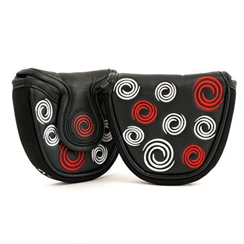 Callaway Odyssey Swirl Mallet Putter Headcover, Heel Shaft, L/R Hand, Black