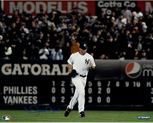 ca32dc8d6 ... Mariano Rivera Signed Yankees Home Jersey Run Onto The Field Horizontal  16x20 Photo ( Signed In ...