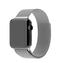 Lebuy Smart Watch Band,Stainless Steel Replacement Watch Band for Iwatch,Double Magnetic Closure Clasp for Aple Watch 42mm (silver)