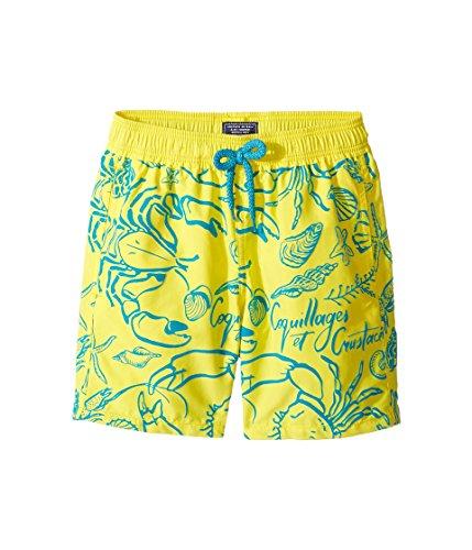 Vilebrequin Kids  Boy's Flocked Shellfish Swim Trunk (Big Kids) Yellow Swimsuit Bottoms by Vilebrequin Kids