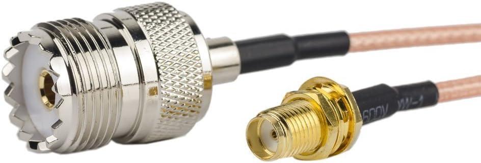 Cable coaxial coaxial RF 2pcs 20 inch/1.7 ft/50 cm – SMA ...