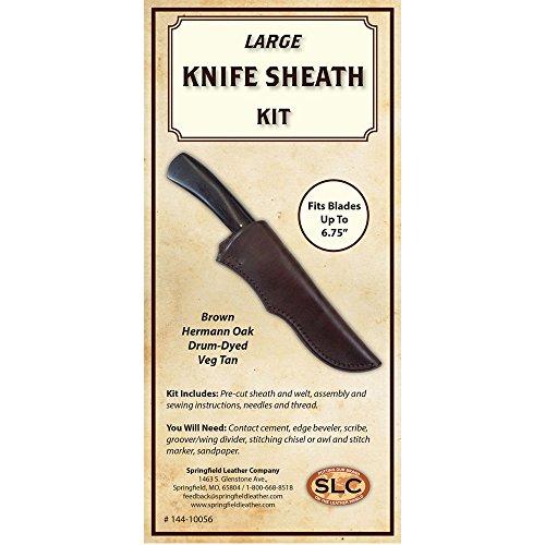 - Knife Sheath Kit Herman Oak Drum-Dyed (Brown, Large 6.75