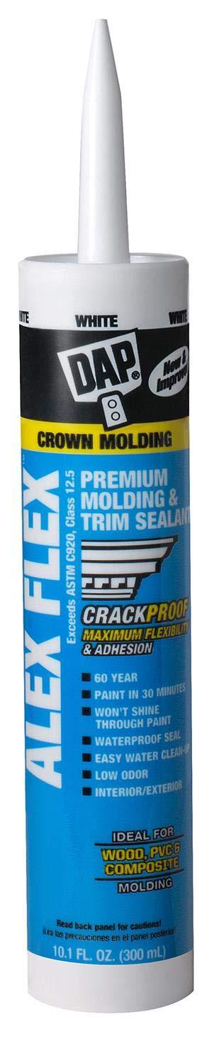 DAP 18542 Alex Flex Premium Molding & Trim Sealant, 10.1 oz, White by DAP