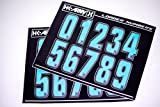 HK Army Paintball Loader Number Stickers - Teal