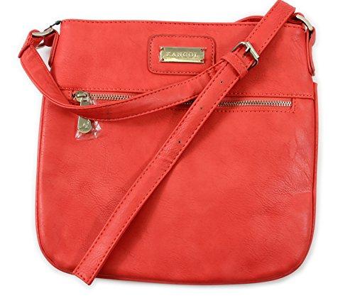 Shoulder Flat Cross Body KANGOL Handbag Designer Coral Strap Long Ladies wtaHXqUa