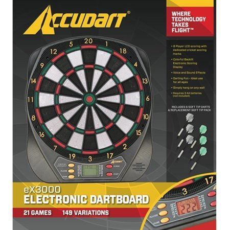 21 Games with LCD Display Accudart Electronic Dartboard by 21 Games with LCD Display