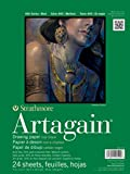 "Strathmore 400 Series Artagain Pad, Coal Black,  9""x12"" Glue Bound, 24 Sheets"