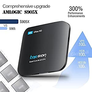 Android TV BOX 4K Improved Version MXG Pro 2GB/16GB Android 6.0 S905X Quad Core (16G+Keyboard)