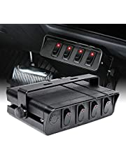 OLS 3-Slot Rocker Switch Panel [Industry Standard Fit] [Heavy Duty] [Expandable Design] [Professional Look] Automotive Mount Toggle Switch Housing