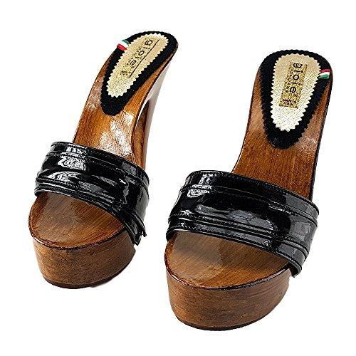 shoes Vernice Zoccoli Vernice 910 kiara Nero Nero in SFaC0dqw