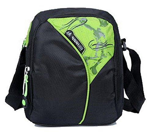 Bolsos Bolsas Verde CCAYBP181080 Mujeres Compras VogueZone009 de Hombro Nylon Cruzados Casual gT40R