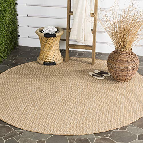 Safavieh CY8521-03012-5R Courtyard Collection CY8521-0301 Natural and Cream Area (5'3