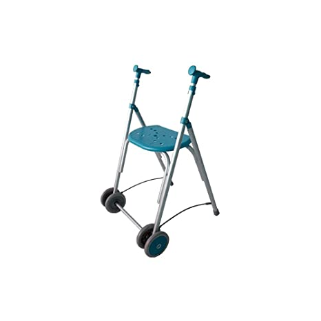 Forta fabricaciones - Andador de aluminio con asiento de FORTA Kamaleón - Esmeralda, Sin ruedas traseras, Sin cesta