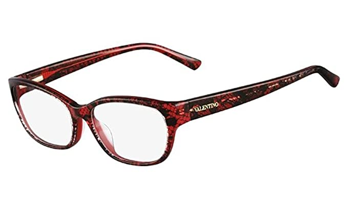 VALENTINO Eyeglasses V2606 615 Red Lace 53MM at Amazon Men\'s ...