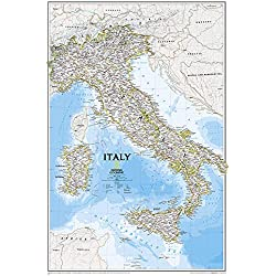 National Geographic: Italy Classic Wall Map (23.25 x 34.25 inches) (National Geographic Reference Map)