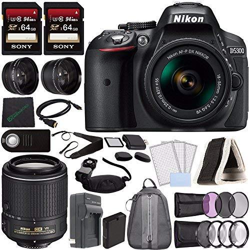 Nikon D5300 Cámara DSLR con Lente de 18-55 mm (Negro) + ...