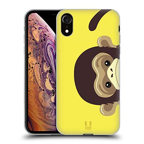 Head Case Designs Monkey Peeking Animals Soft Gel Case Compatible for iPhone XR