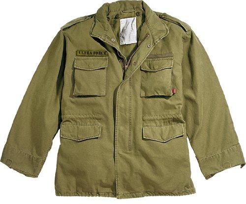 Russet Brown Military Vintage M-65 Field Jacket 8616 Size Large
