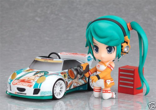 Anime 2 PCS Miku Racing 109 Nendoroid PVC Figure New In (Harley Quinn Cowl)