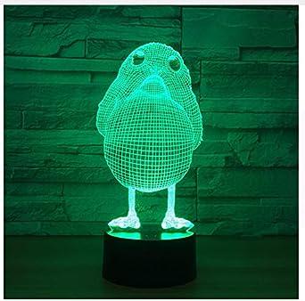 Modelo de pollo Ilusión Lámpara 3D Led 7 Cambiando de Color 3D ...