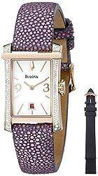 Bulova Women's 98R197 Analog Display Quartz Purple Watch