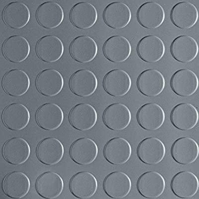 7.5 ft. x 17 ft. Coin Grey Universal Flooring