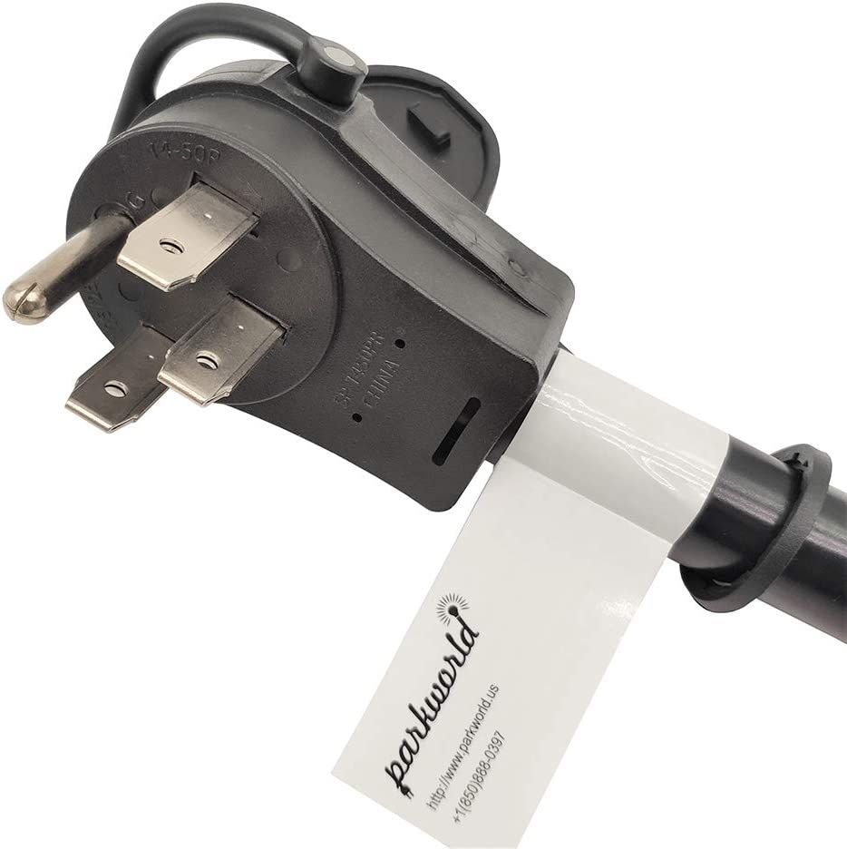 Parkworld 61995 RV 50 AMP Splitter Adapter 14-50P Male Plug to 14-60R /& 14-50R Female Connector 1.5FT