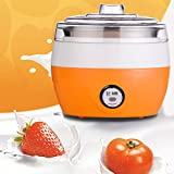 220V Plastic + stainless steel Homemade Automatic Yogurt Maker – Make Natural Healthy Yogurt at Home(1L, Orange, Blue) (Blue)
