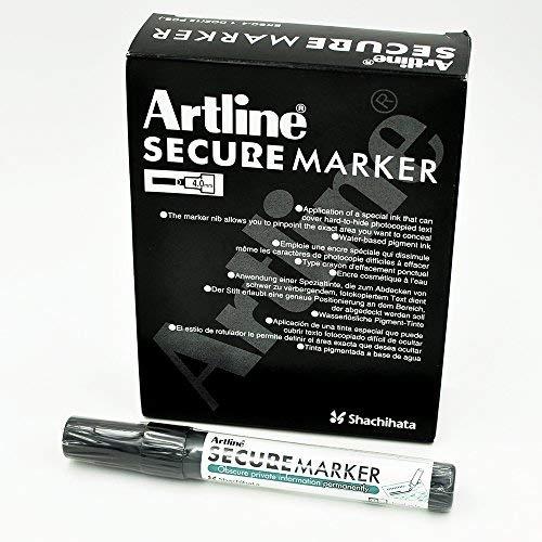 Artline Secure Marker 4.mm Chisel EKSC-4 (12 Pack) by artline (Image #1)