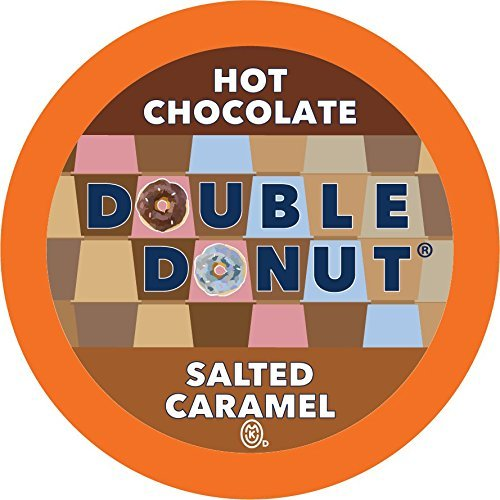 Caramel Chocolate Hot Chocolate - Double Donut Hot Chocolate, Single Serve Cups for Keurig K Cup Brewers, 24 Count (Salted Caramel)