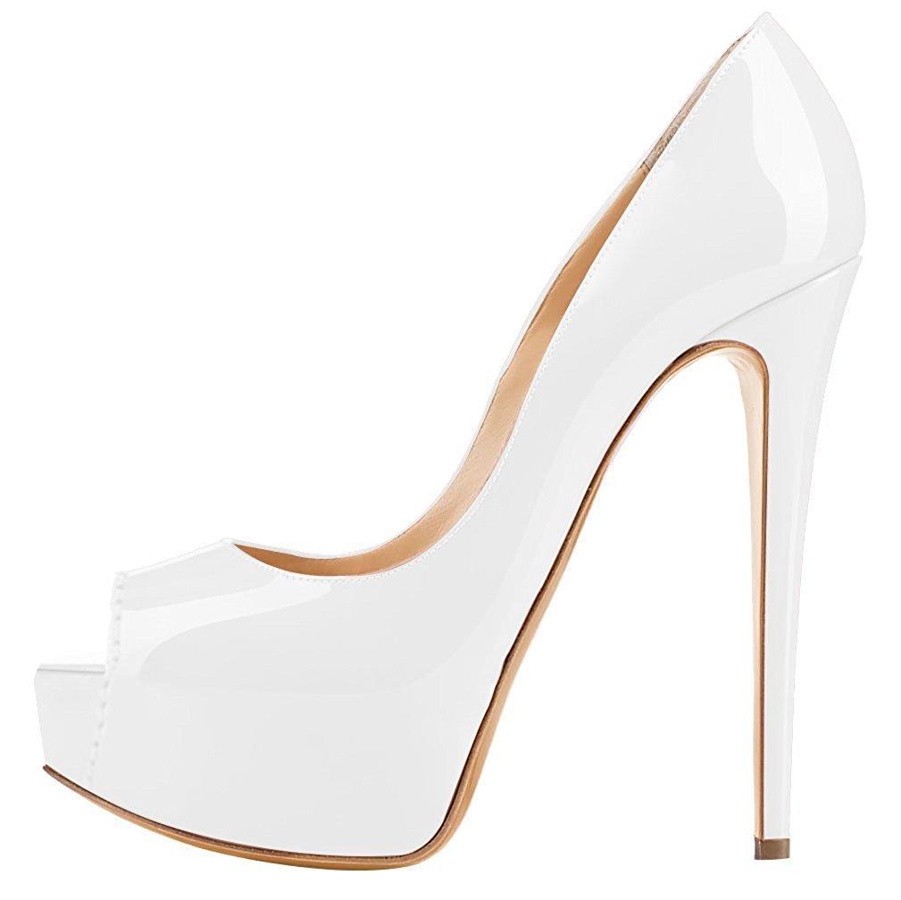 Emiki - Zapatos de Tacón Mujer EU42=26.8cm|Wei