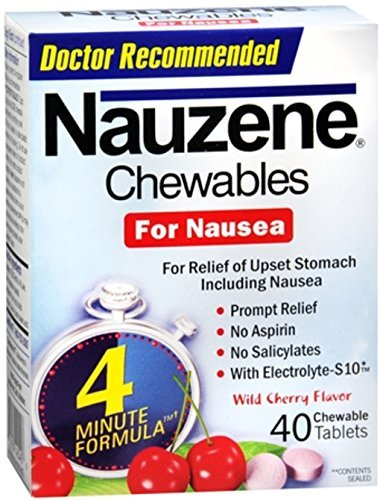 Nauzene Chewables Wild Cherry Flavor 40 Tablets (Pack of 8) by Nauzene