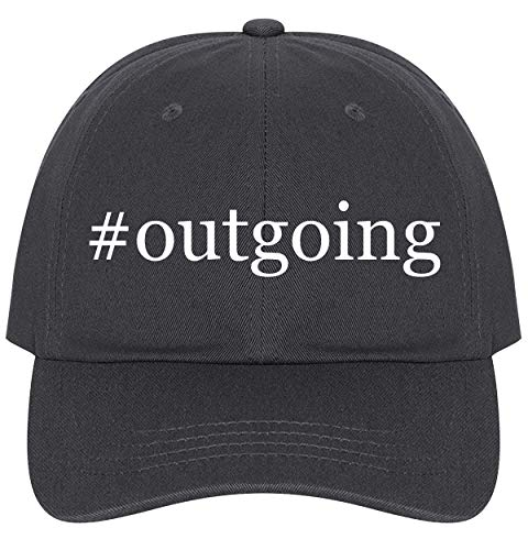 The Town Butler #Outgoing - A Nice Comfortable Adjustable Hashtag Dad Hat Cap, Dark