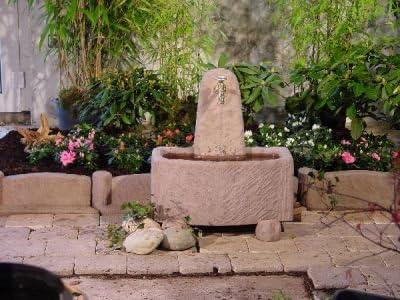 Fábrica de piedra arenisca incluido Sierra de Jardín bomba de la fuente de piedra fuente felsbrunnen: Amazon.es: Hogar