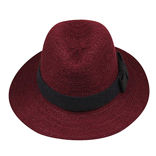 SHINA Women Girl Wool Wide Brim Floppy Hat Fasionable and Foldale Large Brimmed Hat for Spring Autumn Winter