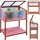"""Garden Portable Wooden Greenhouse Cold Frame for Raised Flower Planter Protection 35.5"""" Long x 19.5'' Wide x 40.5"""" High"""
