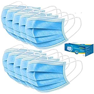 Tukellen 200 Pcs Daily Disposable 3-ply Face Cover to Block Dust Cough Sneeze Splatter (01-3PlyMask_200pack)