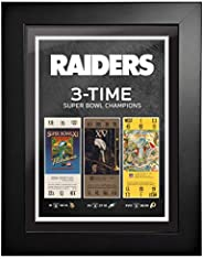 Las Vegas Raiders Ticket to History 12x16 Frame