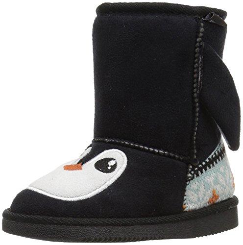 Price comparison product image Muk Luks Unisex-Kids Echo Penguin Fashion Boot, Black, 8 M US Little Kid