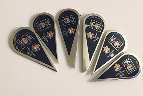 (NBC Rare Peacock Puzzle Set Media Winter Olympics Pin SLC 2002 Salt Lake City)