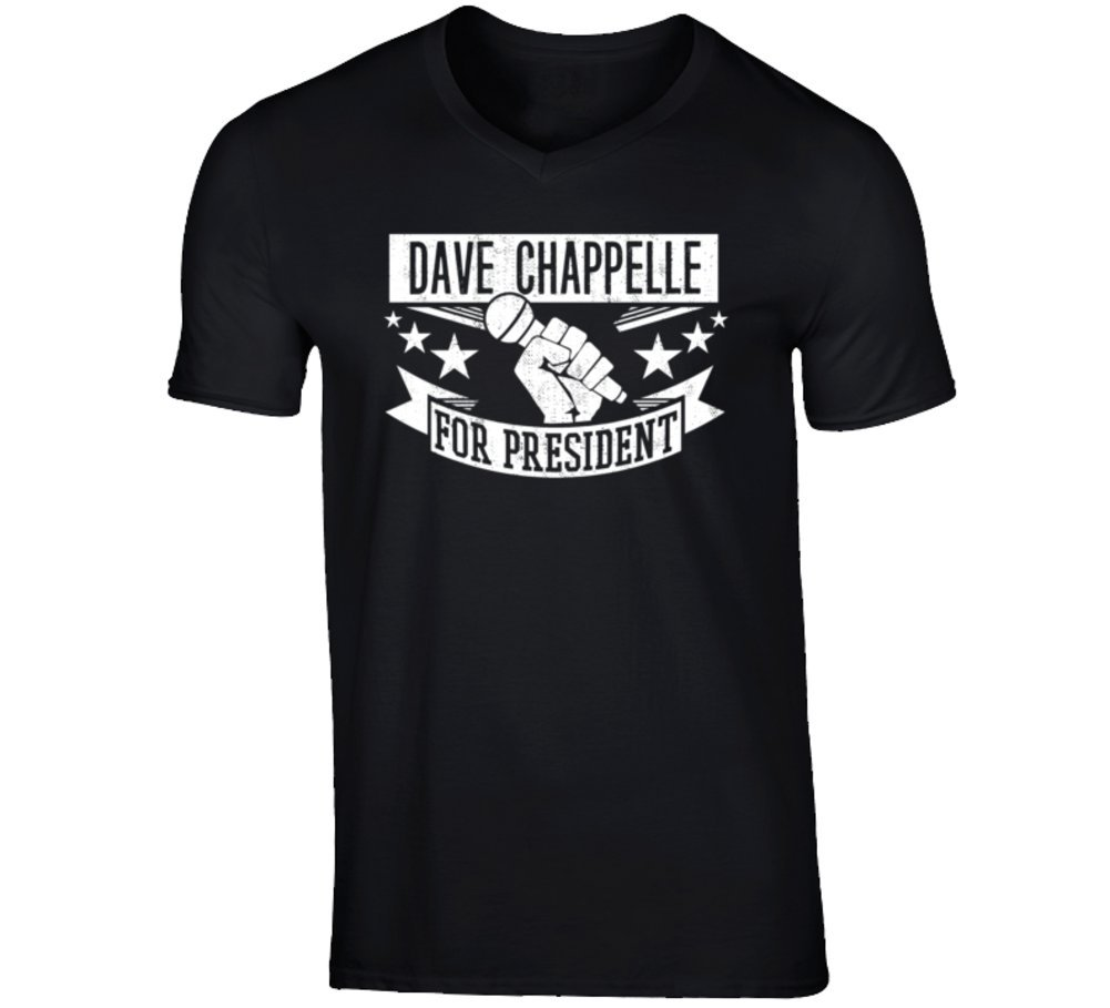 amazon com dave chappelle para el presidente comediante stand up comedia t shirt s negro books amazon com